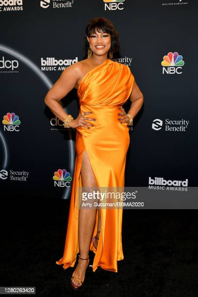 In this image released on October 14, Garcelle Beauvais poses backstage at the 2020 Billboard Music Awards, broadcast on October 14, 2020 at the...