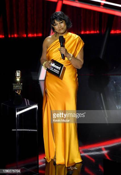 In this image released on October 14 Garcelle Beauvais speaks onstage at the 2020 Billboard Music Awards broadcast on October 14 2020 at the Dolby...