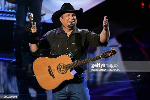 In this image released on October 14, Garth Brooks performs onstage at the 2020 Billboard Music Awards, broadcast on October 14, 2020 at the Dolby...