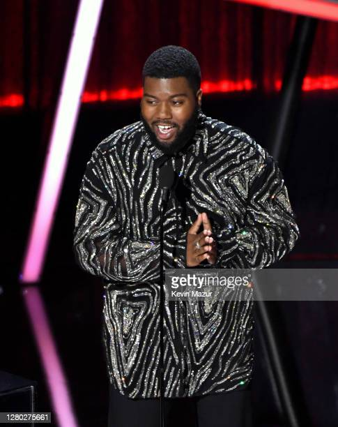 In this image released on October 14 Khalid accepts the Top RB Artist Award onstage at the 2020 Billboard Music Awards broadcast on October 14 2020...