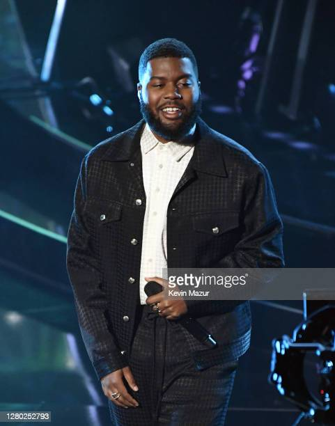 In this image released on October 14, Khalid performs onstage at the 2020 Billboard Music Awards, broadcast on October 14, 2020 at the Dolby Theatre...