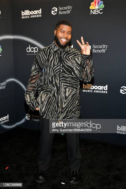 In this image released on October 14, Khalid poses backstage at the 2020 Billboard Music Awards, broadcast on October 14, 2020 at the Dolby Theatre...