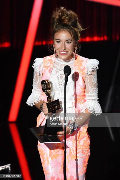 In this image released on October 14 Lauren Daigle accepts the Top Christian Artist Award onstage at the 2020 Billboard Music Awards broadcast on...