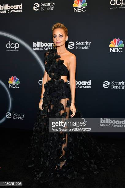 In this image released on October 14, Nicole Richie poses backstage at the 2020 Billboard Music Awards, broadcast on October 14, 2020 at the Dolby...