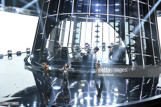 In this image released on October 14 Rhona Bennett Terry Ellis and Cindy Herron of En Vogue perform onstage at the 2020 Billboard Music Awards...