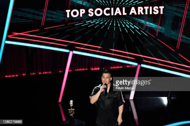 In this image released on October 14 Spencer X speaks onstage at the 2020 Billboard Music Awards broadcast on October 14 2020 at the Dolby Theatre in...