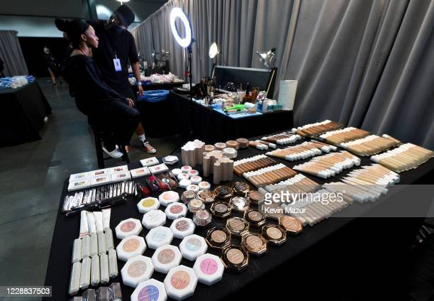 In this image released on October 2, a view of Fenty Beauty backstage during Rihanna's Savage X Fenty Show Vol. 2 presented by Amazon Prime Video at...