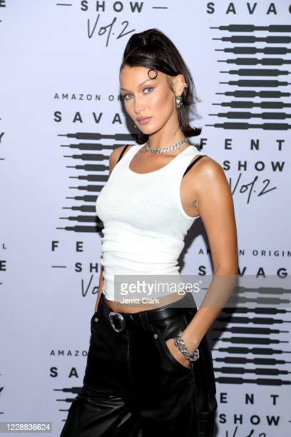 In this image released on October 2, Bella Hadid attends Rihanna's Savage X Fenty Show Vol. 2 presented by Amazon Prime Video at the Los Angeles...