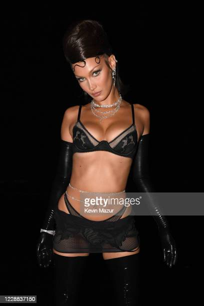 In this image released on October 2, Bella Hadid is seen onstage during Rihanna's Savage X Fenty Show Vol. 2 presented by Amazon Prime Video at the...