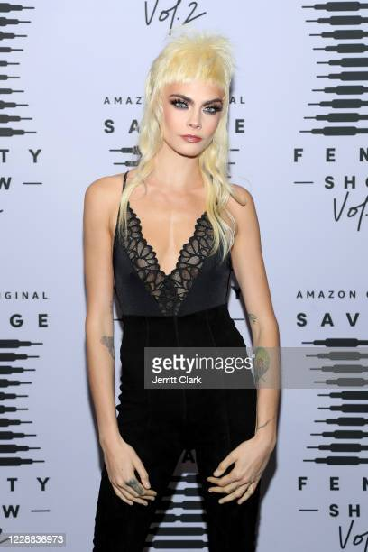 In this image released on October 2, Cara Delevingne attends Rihanna's Savage X Fenty Show Vol. 2 presented by Amazon Prime Video at the Los Angeles...