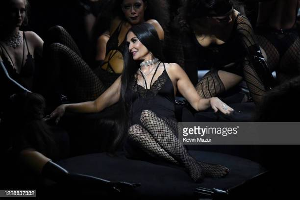 In this image released on October 2, Demi Moore is seen onstage during Rihanna's Savage X Fenty Show Vol. 2 presented by Amazon Prime Video at the...