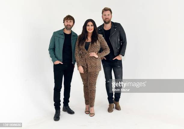 In this image released on October 23 Dave Haywood Hillary Scott and Charles Kelley of Lady A pose for a portrait for the 2020 iHeartCountry Festival...