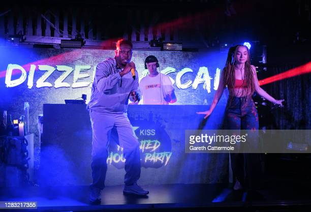 In this image released on October 31 Dizzie Rascal and Ella Eyre perform during the KISS Haunted House Party 2020 at The Bedford on October 20 2020...