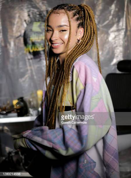 In this image released on October 31 Ella Eyre during the KISS Haunted House Party 2020 at The Bedford on October 20 2020 in London England