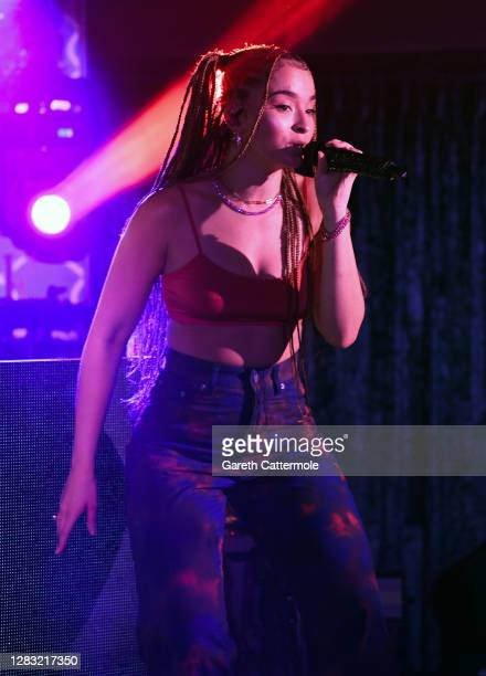 In this image released on October 31 Ella Eyre performs during the KISS Haunted House Party 2020 at The Bedford on October 20 2020 in London England