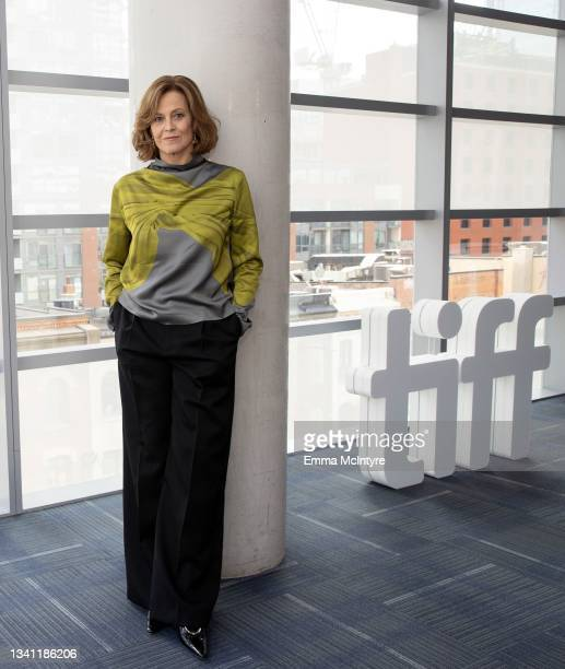 In this image released on September 18 Sigourney Weaver speaks during the TIFF Tribute Gala during the 2021 Toronto International Film Festival on...