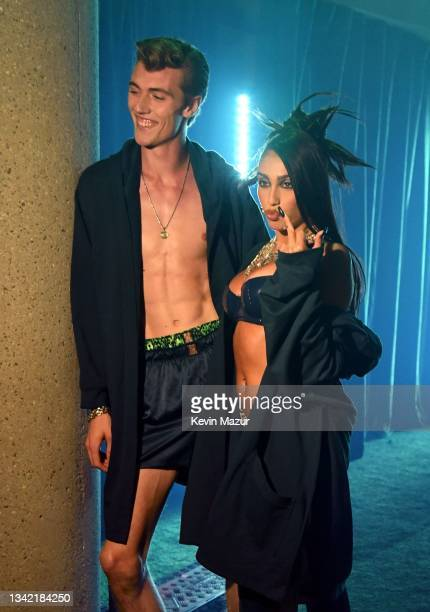 """In this image released on September 23, Lucky Blue Smith and Lourdes """"Lola"""" Leon are seen during Rihanna's Savage X Fenty Show Vol. 3 presented by..."""