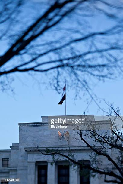In this image taken with a tilt-shift lens, the Marriner S. Eccles Federal Reserve building stands in Washington, D.C., U.S., on Tuesday, March 13,...