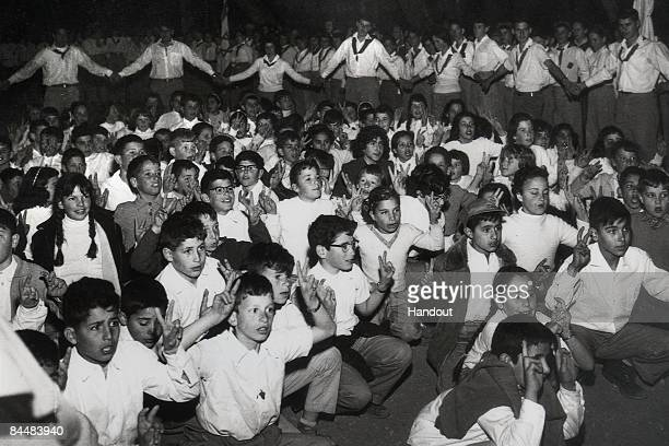 In this Israeli Government Press Office file photo, a young Benjamin Netanyahu during a scouts event June 10, 1957 in Jerusalem. Netanyahu, who is...