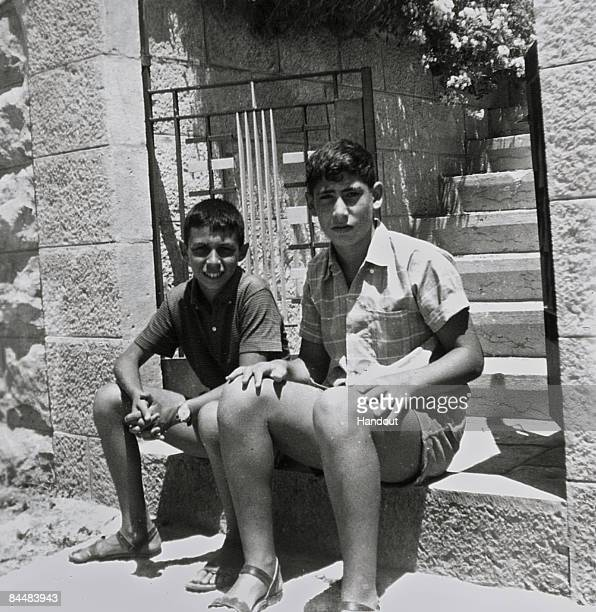 In this Israeli Government Press Office file photo Benjamin Netanyahu who would later become prime minister of Israel with an unidentified friend at...