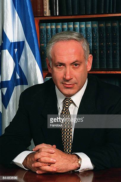 In this Israeli Government Press Office file photo, Prime Minister Benjamin Netanyahu poses for an official portrait June 25, 1996 in his office in...