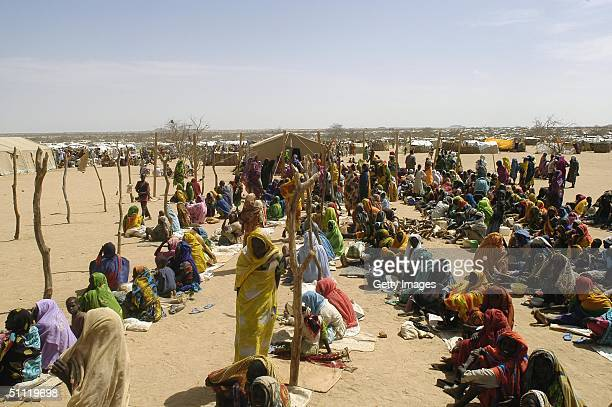 In this June 2004 handout a view of Iridimi refugee camp in eastern Chad is seen. Efforts are currently underway July 27, 2004 to get aid relief to...