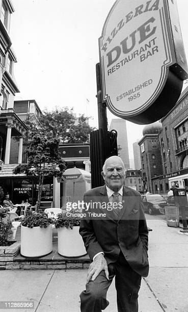 In this June 22 1987 file photograph Ike Sewell founder of Pizzeria Uno and creator of the original deepdish pizza Pizzeria Due on Ontario and Wabash...