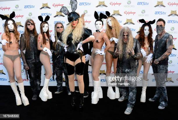 In this Moment Chris Howrth and Maria Brink arrive at the 5th Annual Revolver Golden Gods Award Show at Club Nokia on May 2 2013 in Los Angeles...
