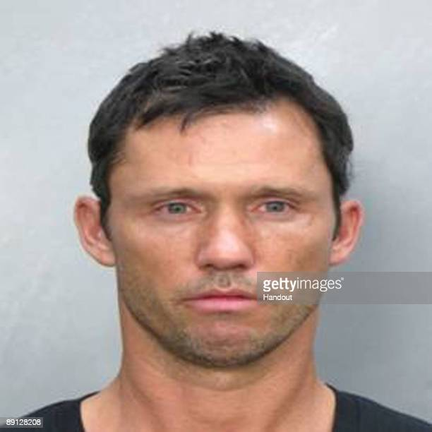 In this mugshot picture released by the Miami Beach Police Dept Actor Jeffrey Donovan is seen Donovan an actor onthe television show 'Burn Notice'...