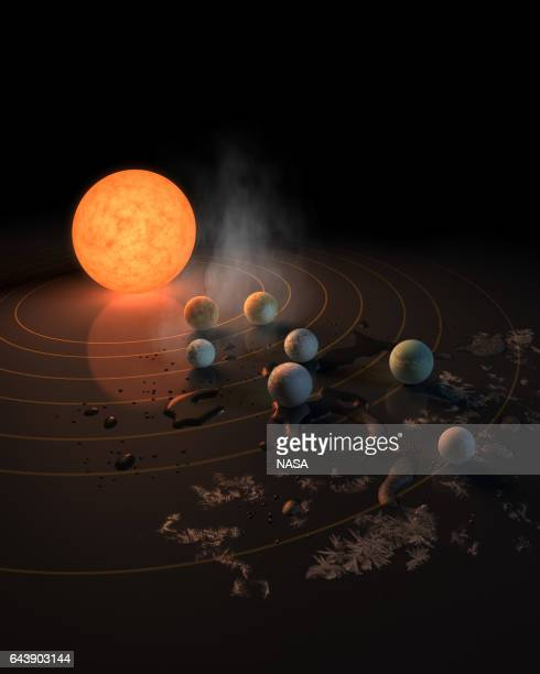In this NASA digital illustration handout released on February 22 this artist's concept will appear on the February 23rd 2017 cover of the journal...