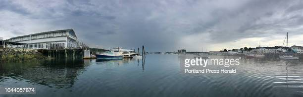 In this panorama photo made with an iPhone on Thursday September 6 both the east and west sides of Boothbay Harbor can be seen The west side is more...