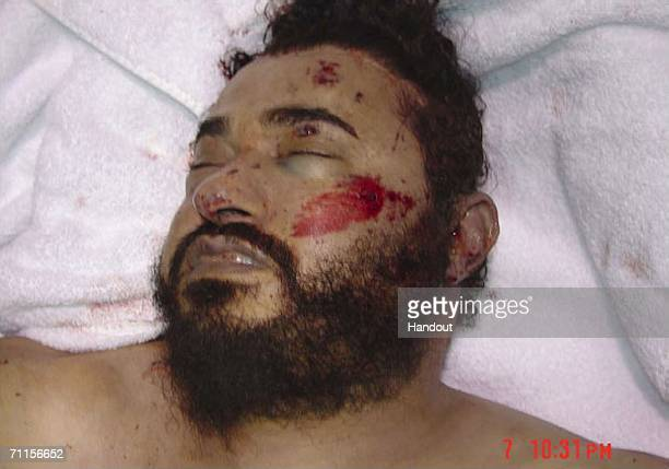 In this photo from the US Department of Defense the alQaida leader in Iraq Abu Musab alZarqawi is seen after his death US warplanes reportedly two...