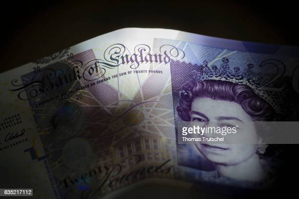 In this Photo Illustration £ 20 pound sterling bills standing on a table on February 13, 2017 in Berlin, Germany.
