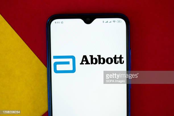 In this photo illustration a Abbott Laboratories logo seen displayed on a smartphone.