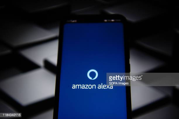 In this photo illustration a Amazon Alexa app seen displayed on a smartphone