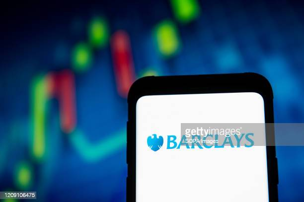 In this photo illustration a Barclays logo seen displayed on a smartphone