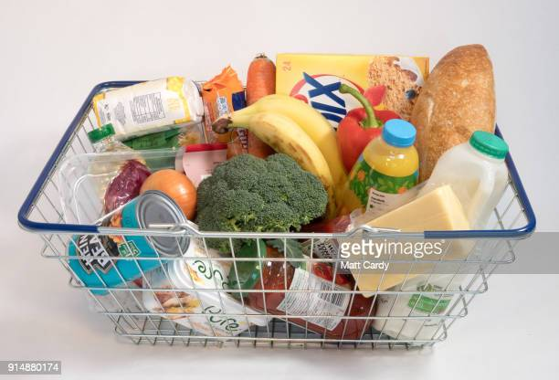 In this photo illustration a basket of goods is pictured on February 6 2018 in Bristol England The Governor of the Bank of England Mark Carney has...