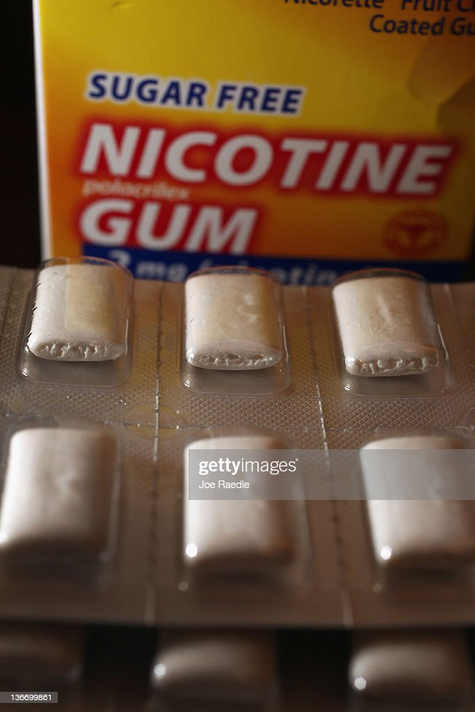 In this photo illustration a blister of Nicotine Gum, which is advertised as helping people stop smoking cigarettes, is seen on January 10, 2012 in Miami, Florida. A study published in the journal Tobacco Control on Monday, reported that the nicotine alternatives, like Nicotine Gum, have no lasting effect on people trying to quit their smoking habit.