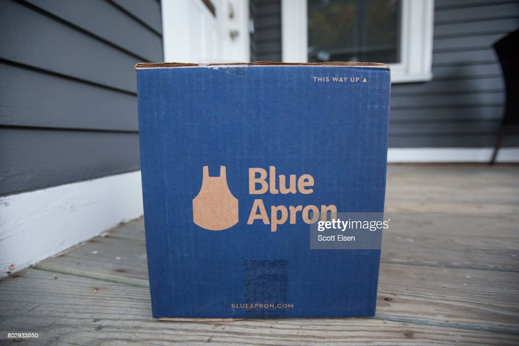 Meal Delivery Service Blue Apron To Go Public On NYSE : News Photo