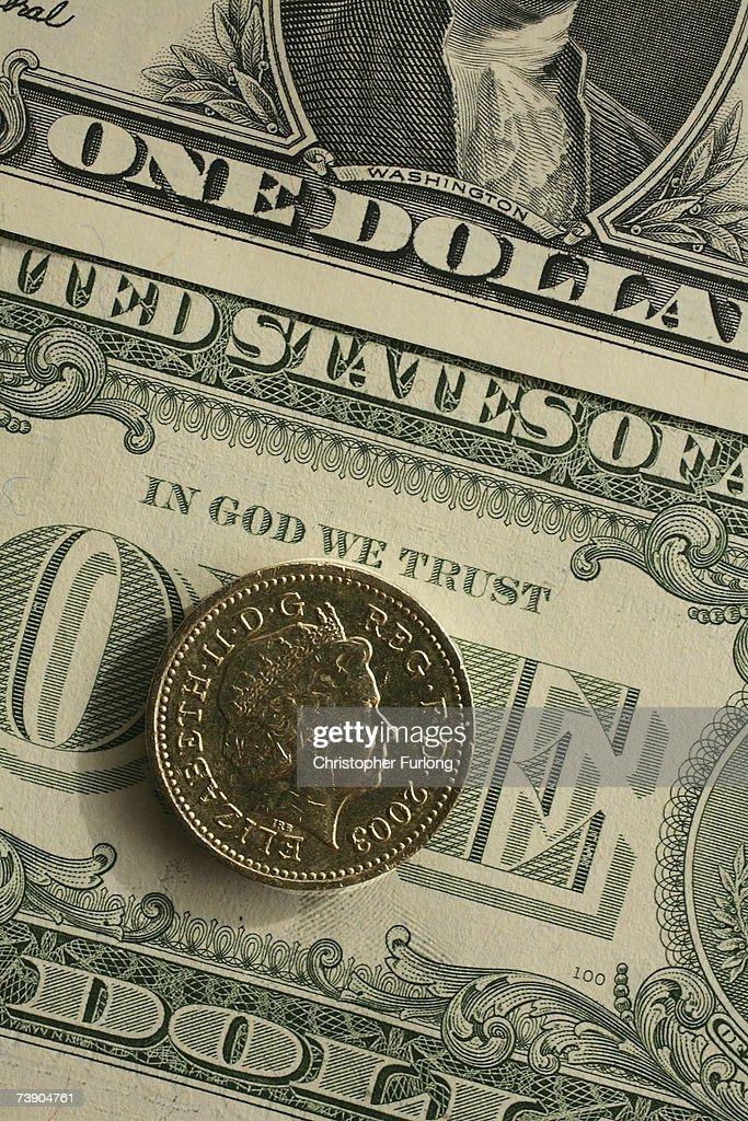 Uk Pound Rises Dollars Photos Images Getty Photo Illustration British
