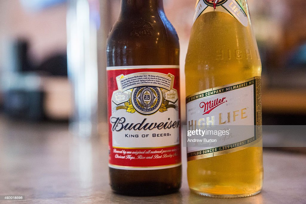Budweiser Parent Company AB InBev Continues Efforts To Purchase Rival Miller : News Photo