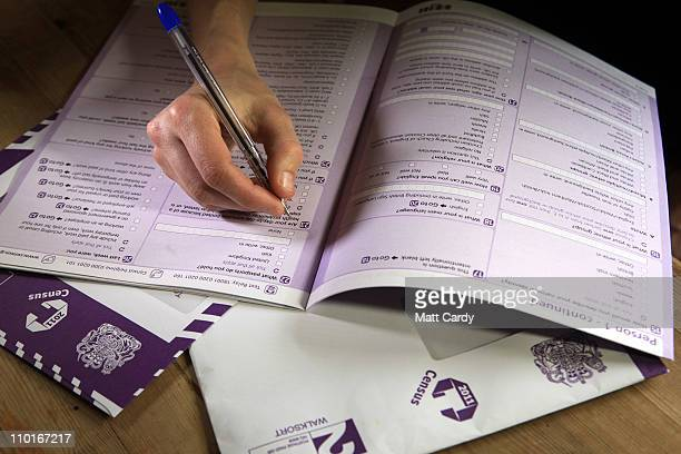 In this photo illustration a copy of the 2011 Census is seen on March 16, 2011 in Bath, England. Conducted by the Office for National Statistics, the...