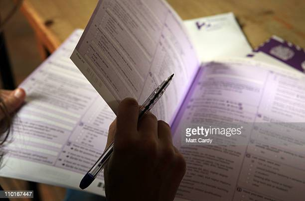 In this photo illustration a copy of the 2011 Census is seen on March 16 2011 in Bath England Conducted by the Office for National Statistics the...