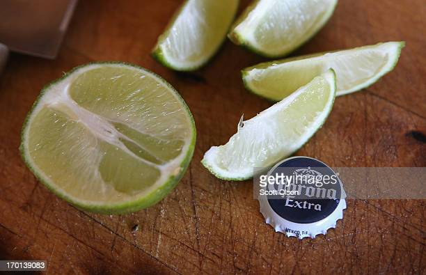 In this photo illustration a Corona cap is shown on June 7 2013 in Chicago Illinois Constellation Brands one of the world's largest wine companies is...