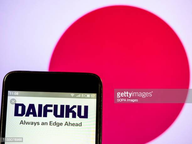 In this photo illustration a Daifuku Co, Ltd logo seen displayed on a smart phone.