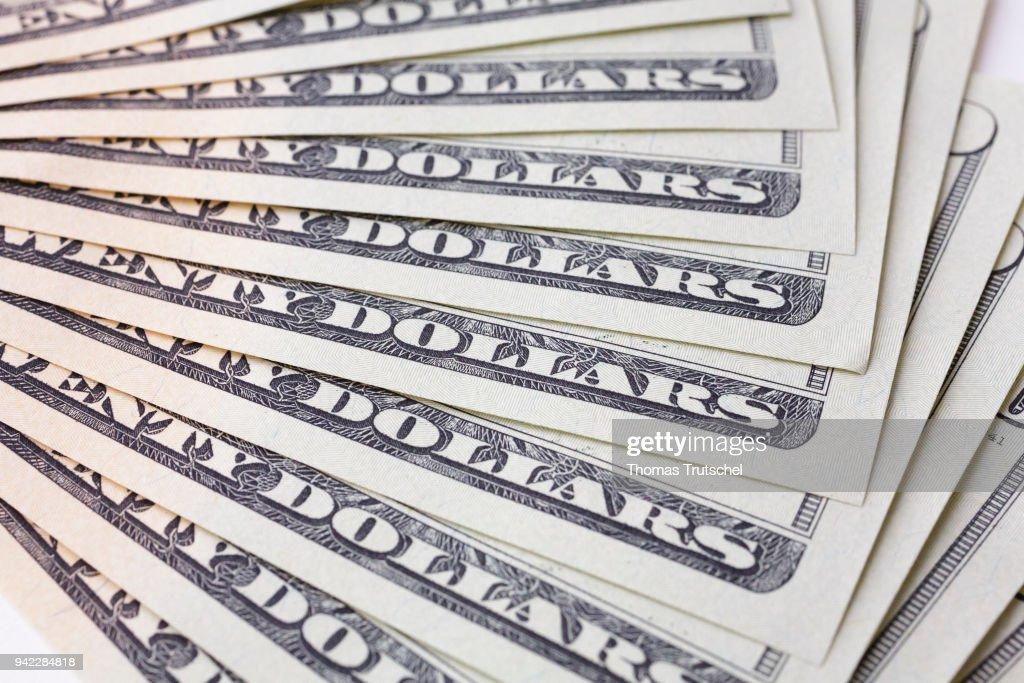 Dollar Bills : News Photo