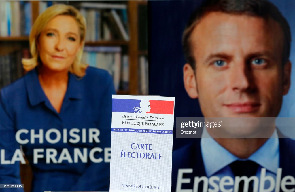 French Presidential Electoral Campaign Posters : News Photo