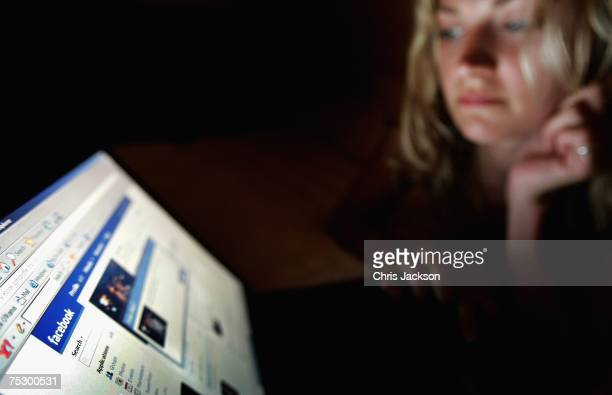 In this photo illustration a girl browses the social networking site Facebook on July 10 2007 in London England Facebook has been rapidly catching up...