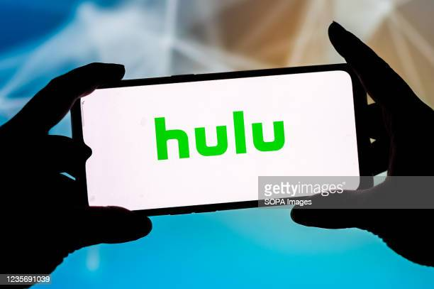 In this photo illustration a Hulu logo seen displayed on a smartphone.