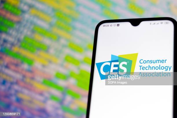 In this photo illustration a International Consumer Electronics Show logo app seen displayed on a smartphone.